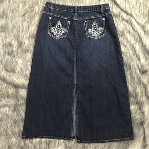 Cato Modest Denim Skirt 14 Straight Bling 34L